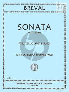 Breval Sonata C-major Violoncello-Piano (Schroeder-Rose) (IMC)