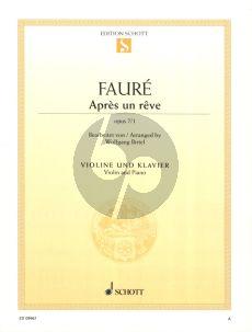 Faure Apres un Reve Op.7 No.1 Violin and Piano (arr. Wolfgang Birtel)
