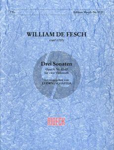 Fesch 3 Sonaten Op. 8 No.10 - 12 2 Violoncellos (Ludwig Schaffler)