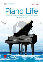 Merkis Piano Life Lesboek 2 (Complete methode voor lespraktijk of zelfstudie in eigentijdse stijl) (Bk- 2 CD's)