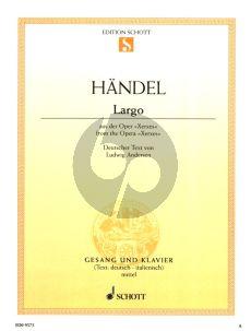 Handel Largo Ombra mai fu (recit:Frondi Tenere) (Xerxes) Mittelstimme (F-dur) (Deutsch-Italienisch)