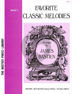 Bastien Favorite Classic Melodies Level 1 Piano