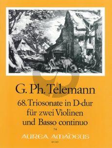 Telemann Trio Sonata D-major TWV 42:D1 2 Violins-Bc (Score/Parts)