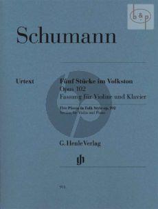5 Stucke im Volkston Op.102 (Violin Version)