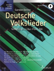 Deutsche Volkslieder for Piano Solo with Online Audo