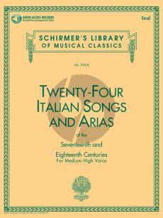 24 Italian Songs & Arias (of the 17th & 18th Century) Medium High