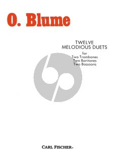 Blume 12 Melodious Duets for 2 Trombones