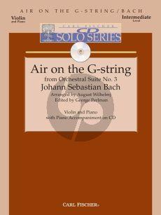 Bach Air on the G String Violin-Piano (Bk-Cd)