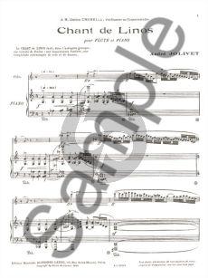 Jolivet Chant de Linos for Flute and Piano