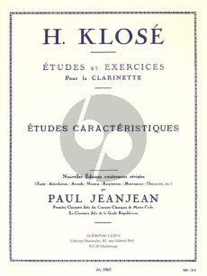 Klose Etudes Caracteristiques pour Clarinette (Paul JeanJean)