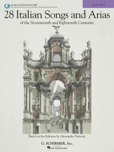 28 Italian Songs & Arias of the 17th & 18th Centuries High Voice (Book with Audio online)