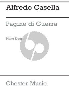 Casella Pagine di Guerra Op. 27 Piano 4 hds