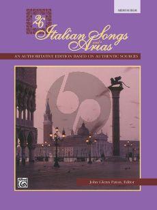 26 Italian Songs and Arias of the 17th & 18th Century Medium - High Book (edited by John Glenn Paton)