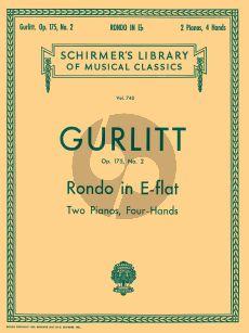 Gurlitt Rondo E-flat major Opus 175 No .2 2 Piano's