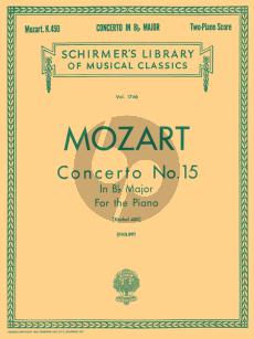 Mozart Concerto No.15 B-flat Major KV 450 (edition for 2 Pianos) (Edited by I Philipp)