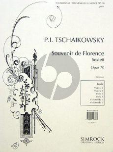 Tchaikovsky Souvenir de Florence Op.70 2 Vi.-2 Va.-2 Vc. (Parts)