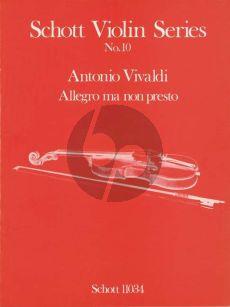 Vivaldi Allegro ma non Presto Violin-Piano (Bergmann)