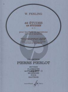 Ferling 48 Etudes Op.31 Hautbois ou Saxophone (Edition Revised and Annotated by L. Bleuzet) (New Revision by Pierre Pierlot)