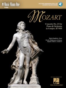Mozart Piano Concerto No.23 A-Major KV 488 Piano-Orchestra Piano Part with Audio Online (Music Minus One)