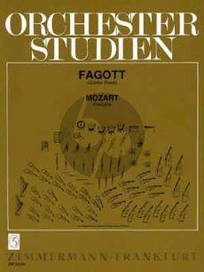 Mozart Orchesterstudien Konzerte Fagott (Günther Piesk)