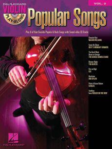 Popular Songs (Violin Play-Along Series Vol.2) (Bk-Cd)