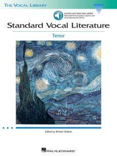 Standard Vocal Literature for Tenor (Bk-Cd) (Richard Walters)