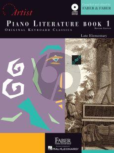 Faber Hartmann Piano Adventures - Literature Book 1 Developing Artist Original Keyboard Classics (Bk-Online Download)