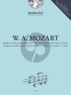 Mozart Rondo D-major KV 184 Anh-Andante C-major KV 315 Flute and Piano (Bk-Cd) (Dowani)