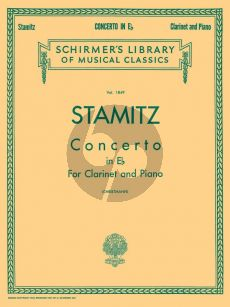 Stamitz Concerto E-flat Major Clarinet and Orchestra (piano reduction) (edited by Arthur H. Christmann)