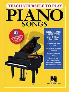 """Teach Yourself to Play Piano Songs """"Someone like You & 9 more Pop Hits"""