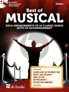 Best of Musical (Solo Arrangements of 14 Classic Songs) Violin (Bk-Cd)