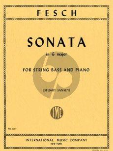Fesch Sonata G-major Double Bass-Piano (transcr. Stuart Sankey)