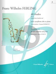 Ferling 48 Etudes Op.31 Vol.2 (No.25 - 48) Alto Saxophone-Piano (edited by Gaetano Di Bacco)