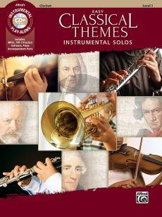 Easy Classical Themes Instrumental Solos for Clarinet (Bk-Cd) (arr. Bill Galliford)