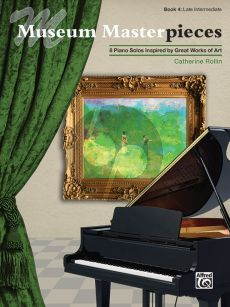 Rollin Museum Masterpieces Book 4 Piano Solo (8 Piano Solos Inspired by Great Works of Art) (Late Intermediate)