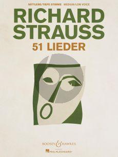 Strauss 51 Lieder Medium / Low Voice and Piano