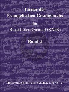 Album Lieder des Evangelische Gesangbuchs Vol.4 Blockflöten-Quartett (SATB) (Glaube - Liebe - Hoffnung)