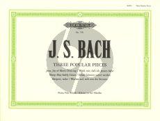 Bach 3 Popular Pieces Piano 4 Hands (Duck)