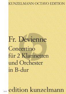 Devienne Concertino B-dur Op. 25 2 Klarinetten und Orchester (Partitur) (Balassa Fodor)