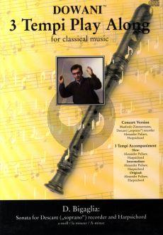 Bigaglia Sonata a-moll Sopranblockflöte (Solo Part-CD) (Dowani) (Manfred Zimmermann)
