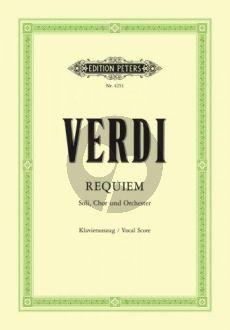 Verdi Messa da Requiem (Soli-Choir-Orch.) (Vocalscore) (Soldan) (Peters)