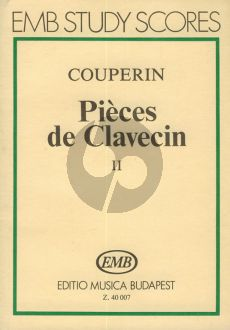 Couperin Pieces de Clavecin Vol.2 Study Score (Jozsef Gat)