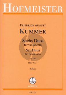 Kummer 6 Duos Op.126 Vol.1 2 Violoncellos (Walter Schulz)