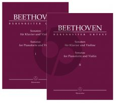 Beethoven Sonatas Vol. 1 and 2 Violin and Piano (edited by Clive Brown)