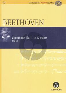 Beethoven Symphony No.1 C-major Op.21 Orch. Study Score (with Audio)