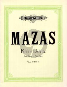 Mazas 12 Kleine Duette Op.38 Vol.2 fur 2 Violinen (Herrmann) (Peters)