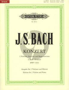 Bach Konzert d-moll BWV 1043 2 Violinen-Klavier (Urtext) (Oistrach)
