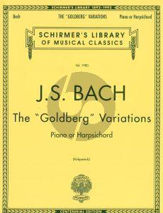 Bach Goldberg Variations piano Kirkpatrick