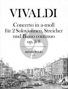 Vivaldi Concerto a-minor Op.3 No.8 (RV 522) (L'Estro Armonico) (2 Violins-Strings-Bc) Piano Reduction (edited by Yvonne Morgan)