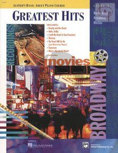 Greatest Hits Solo Book Level 1 Piano
